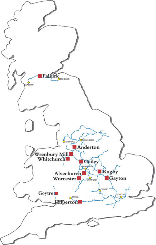 Map Of England Rivers And Canals.Map Of The Canals And Rivers Of Uk England Scotland And Wales